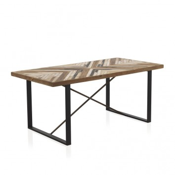 Mesa comedor 180x90 estilo vintage industrial