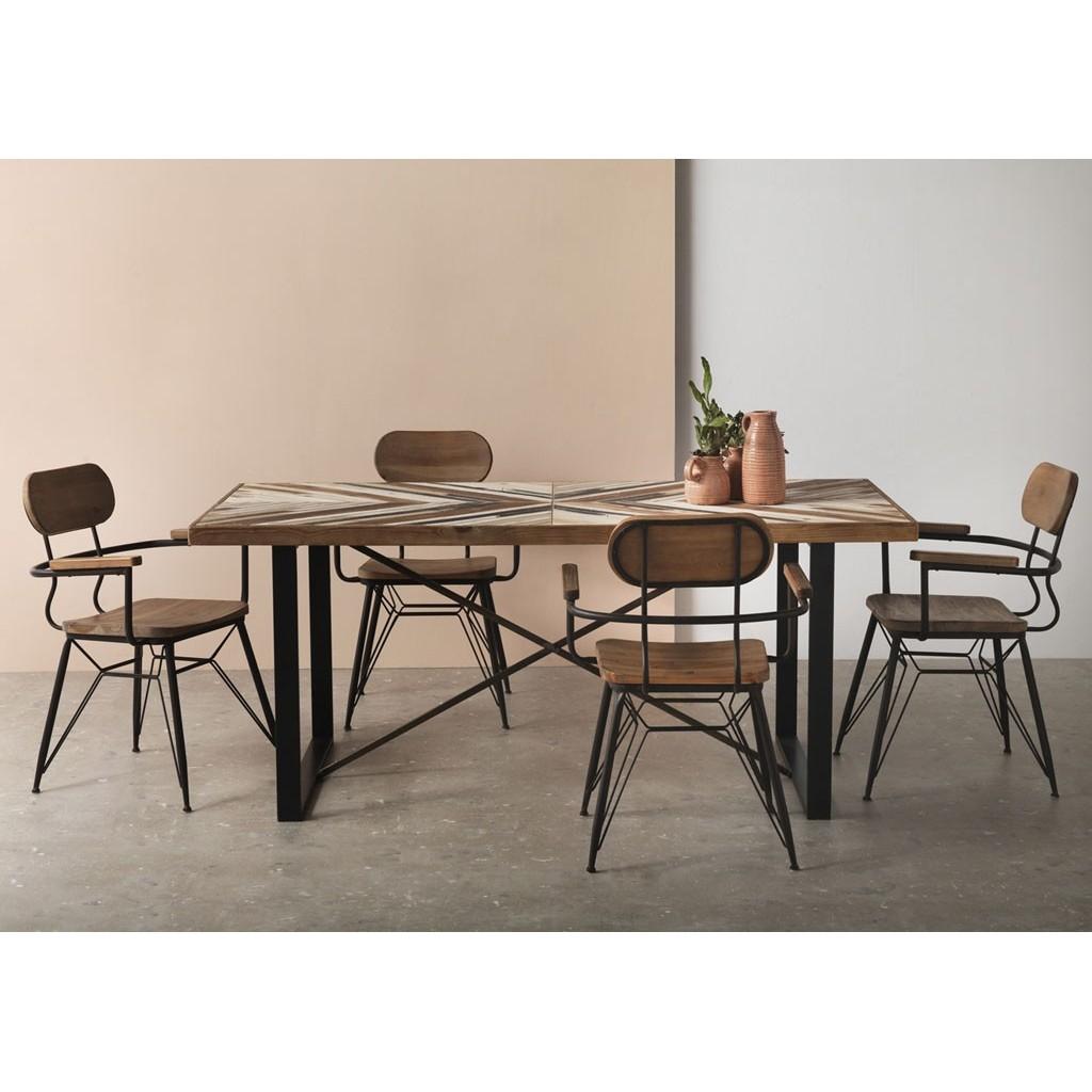 Mesa comedor 180x90 estilo vintage industrial - Erizho