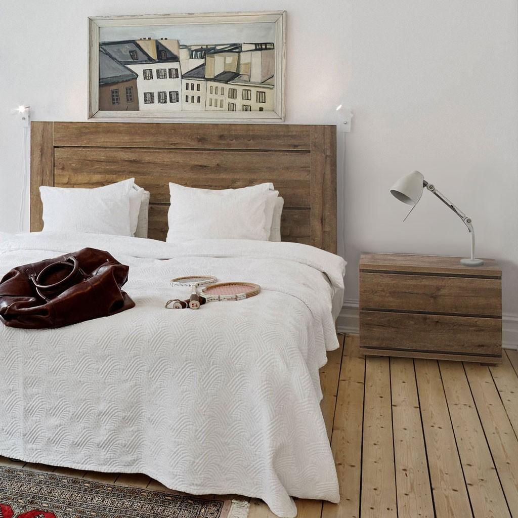 Cebecero o cabezal de cama madera 110 200cm estilo nordico - Cama estilo nordico ...