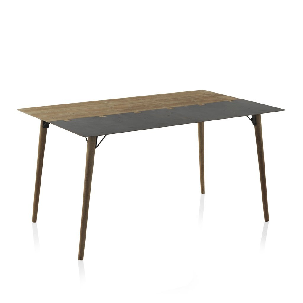 Mesa de comedor estilo industrial 150x90x75h en metal erizho for Mesa comedor estilo industrial