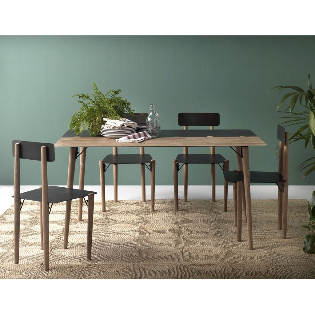 Mesa comedor estilo industrial elegant mesa de comedor for Comedor nordico industrial