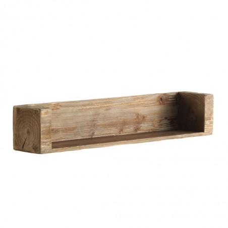 Estanteria estilo funcional industrial 80x15x15h en madera de abeto
