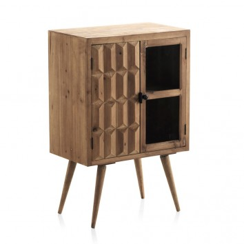 Vitrina estilo vintage 60x91cm madera de abeto y DMF