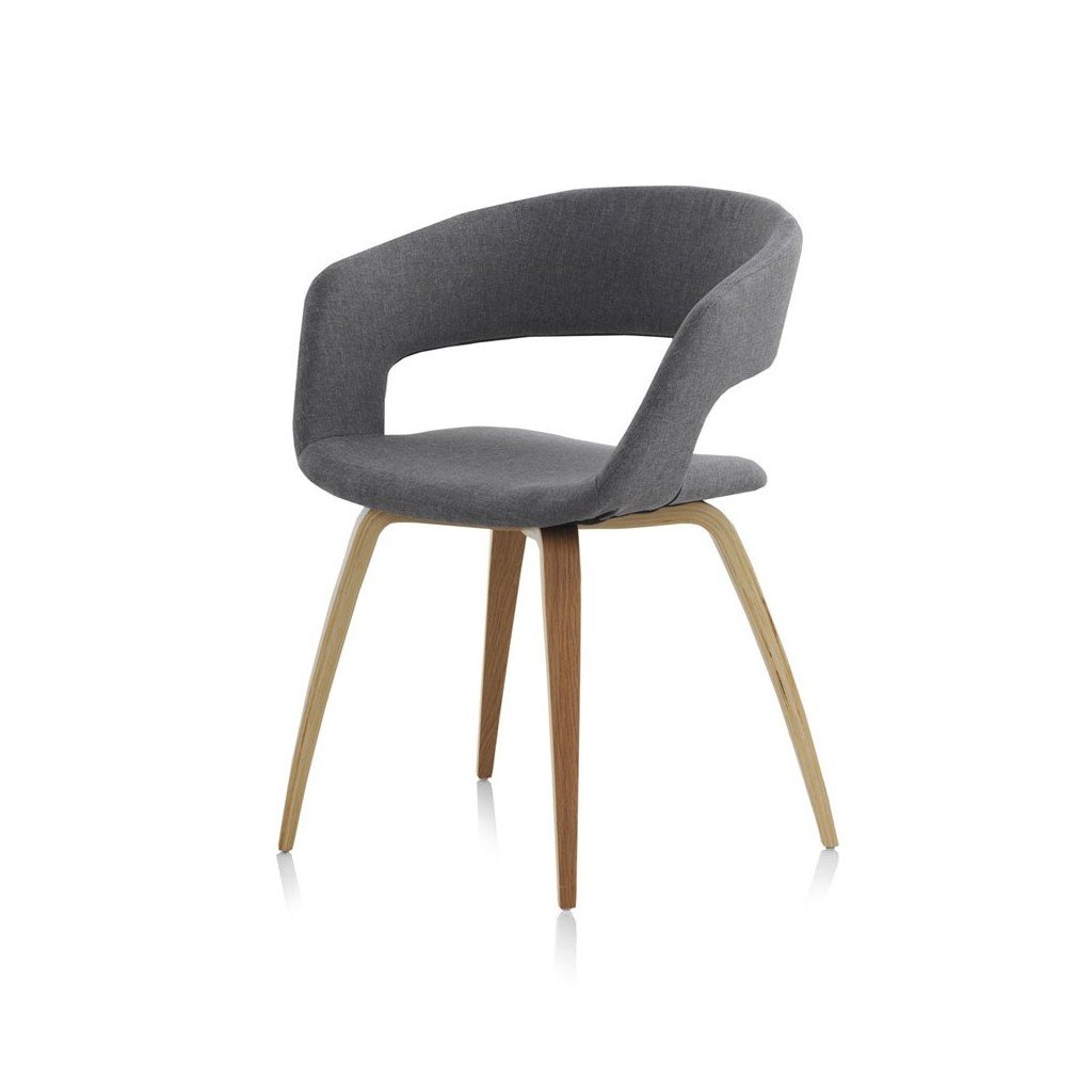silla estilo n rdico 57x53x77h de contrachapado de roble
