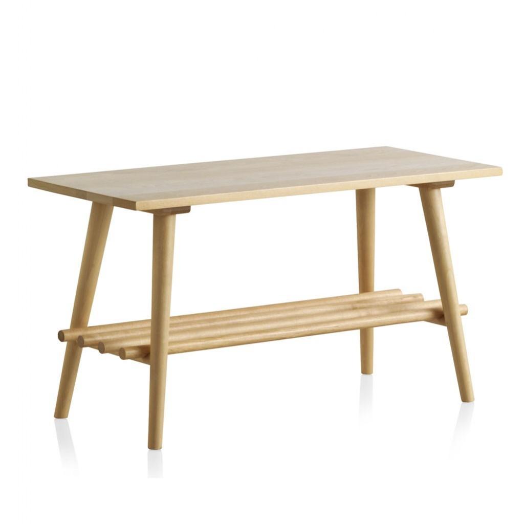Mesita estilo n rdico 80cm madera de abedul natural erizho for Mesa auxiliar estilo nordico