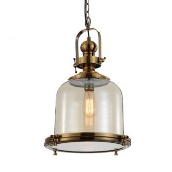 Lámpara colgante Vintage 38cm metal cuero