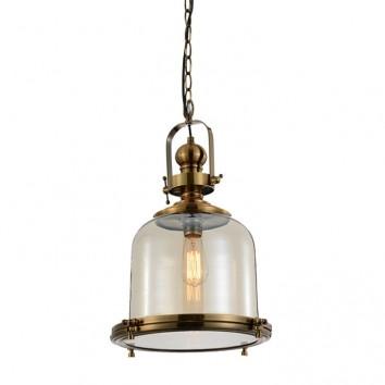 Lámpara colgante Vintage 33cm metal cuero