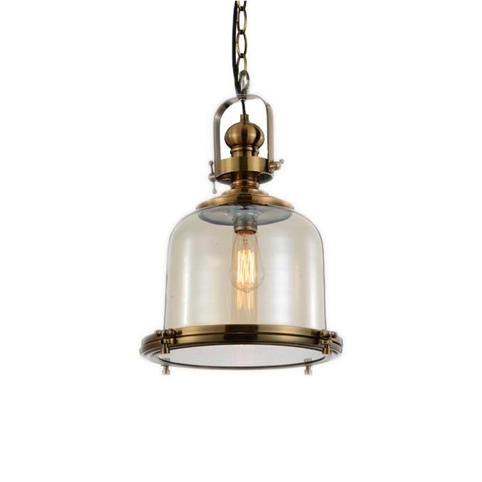 Lámpara colgante Vintage 26cm metal cuero