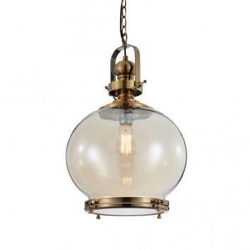 Lámpara esfera Vintage 33cm metal cuero