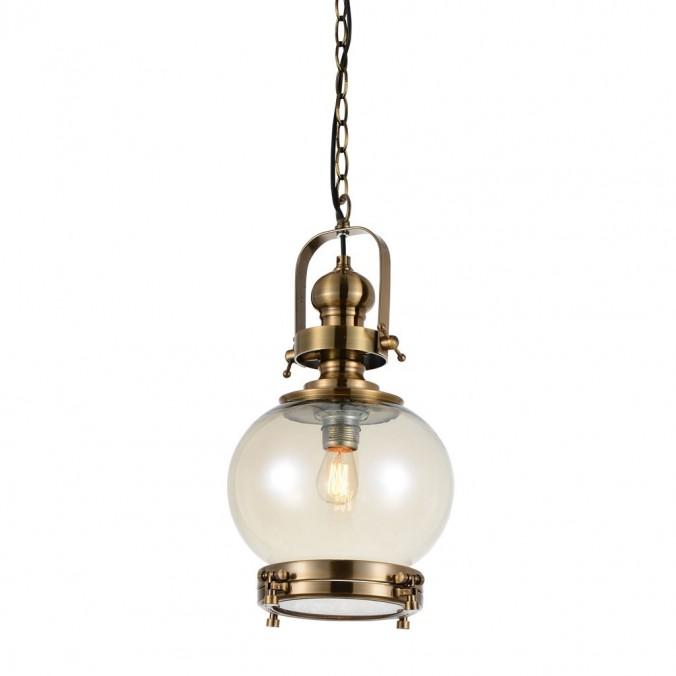 Lámpara esfera Vintage 24cm metal cuero