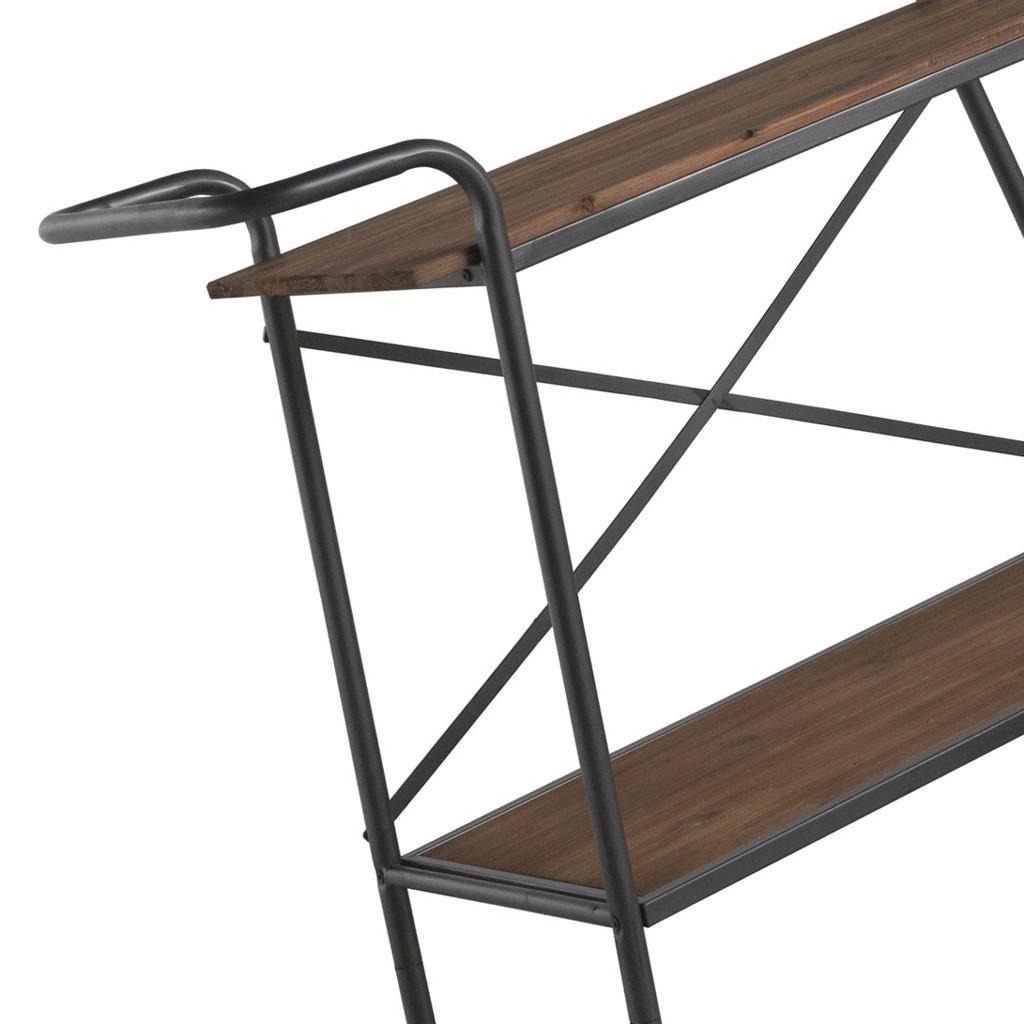 Consola vintage industrial 118x45cm hierro y madera erizho - Consola industrial ...