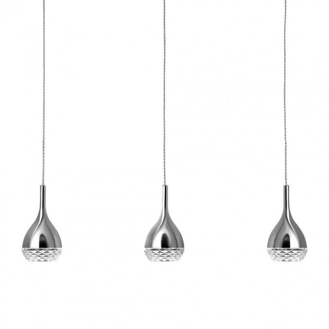 Lámpara techo 3 luces Khalifa cromo