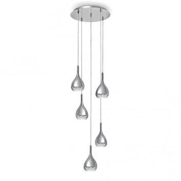 Lámpara techo redonda 5 luces Khalifa