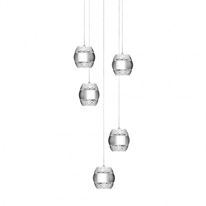 Lámpara techo 5 luces Khalifa LED integrado