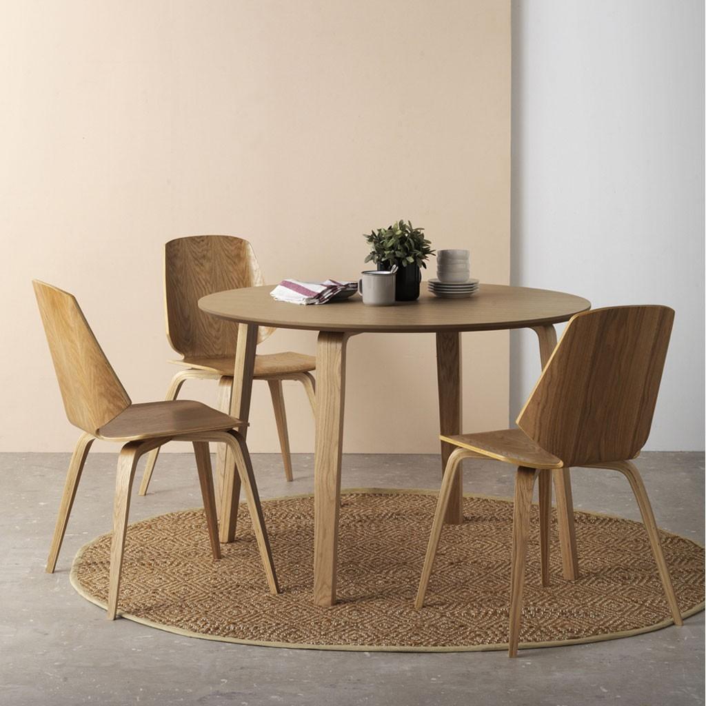 Pack 4 sillas estilo n rdico 43x51x84h de contrachapado de - Sillas de roble ...