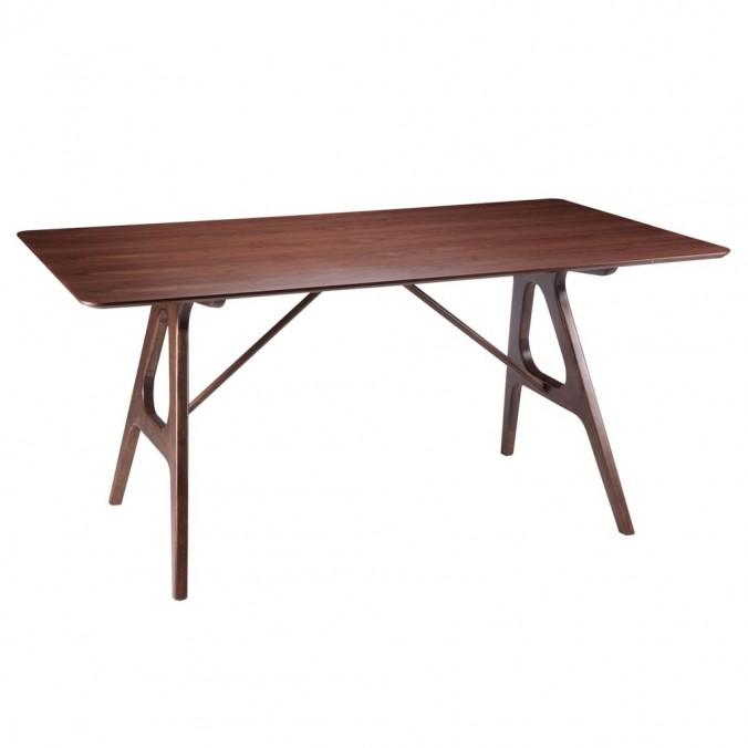 Mesa fija 160cm AMARA madera natural de fresno