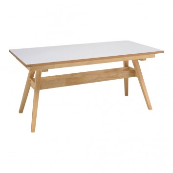 Mesa fija 150x90cm ABBIE madera roble