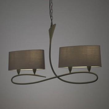 Lámpara de techo lineal 4 luces LUA ceniza