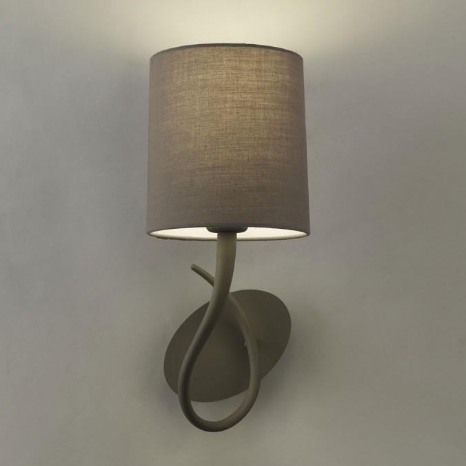 Aplique de pared 1 luz LUA gris ceniza