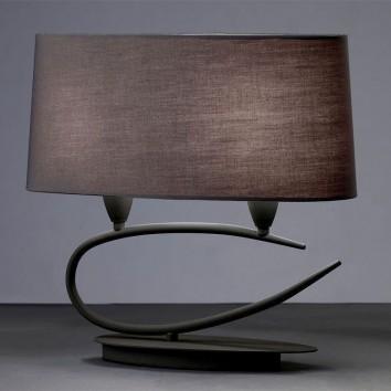 Lámpara de mesa 2 luces LUA gris ceniza