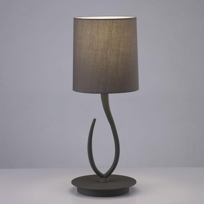 Lámpara de mesa pequeña LUA gris ceniza