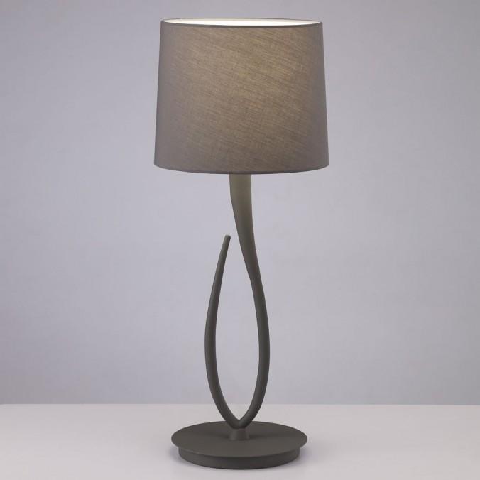 Lámpara de mesa grande LUA gris ceniza