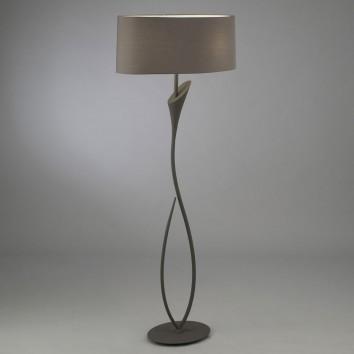 Lámpara de pie LUA gris ceniza
