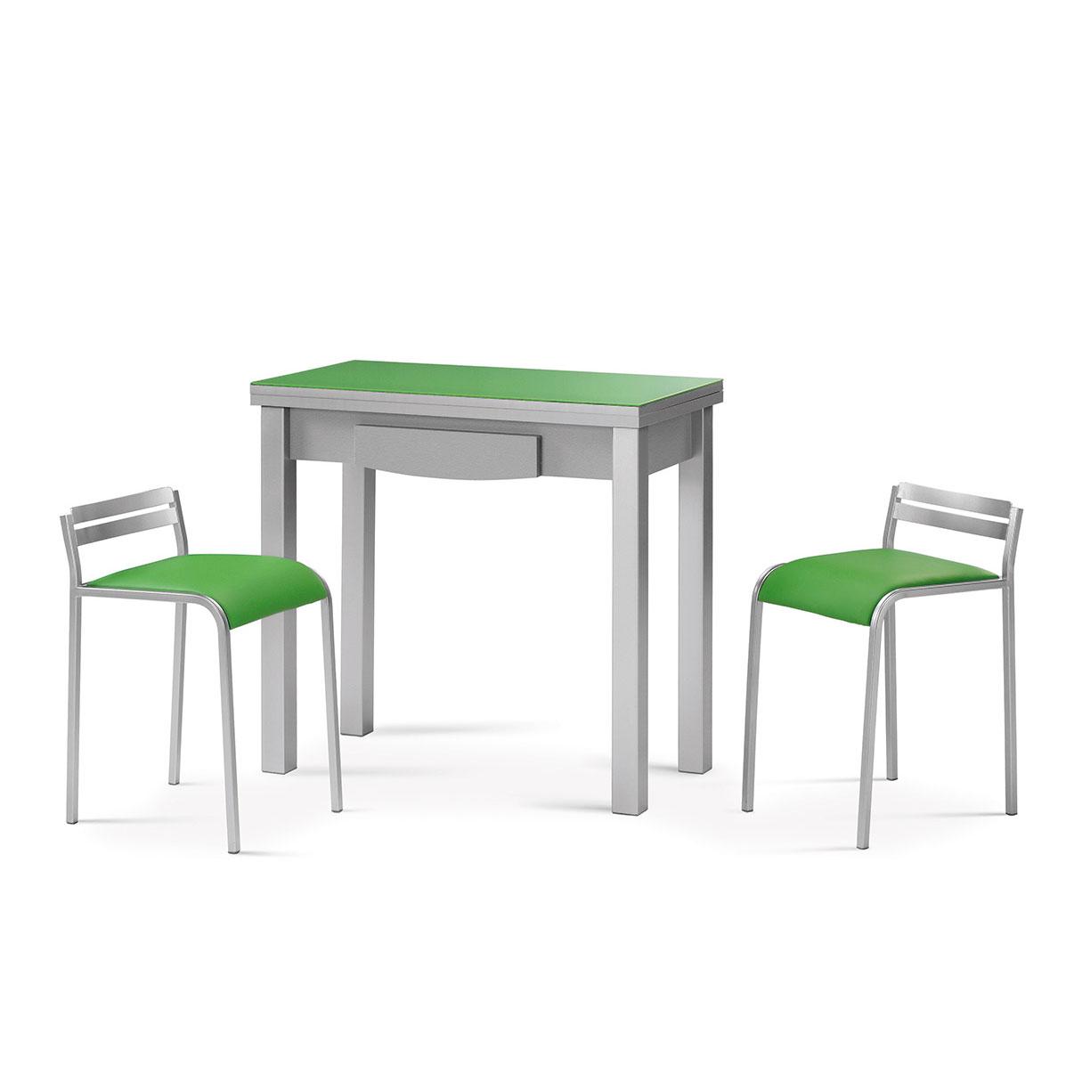 Mesa cocina cristal extensible - Erizho
