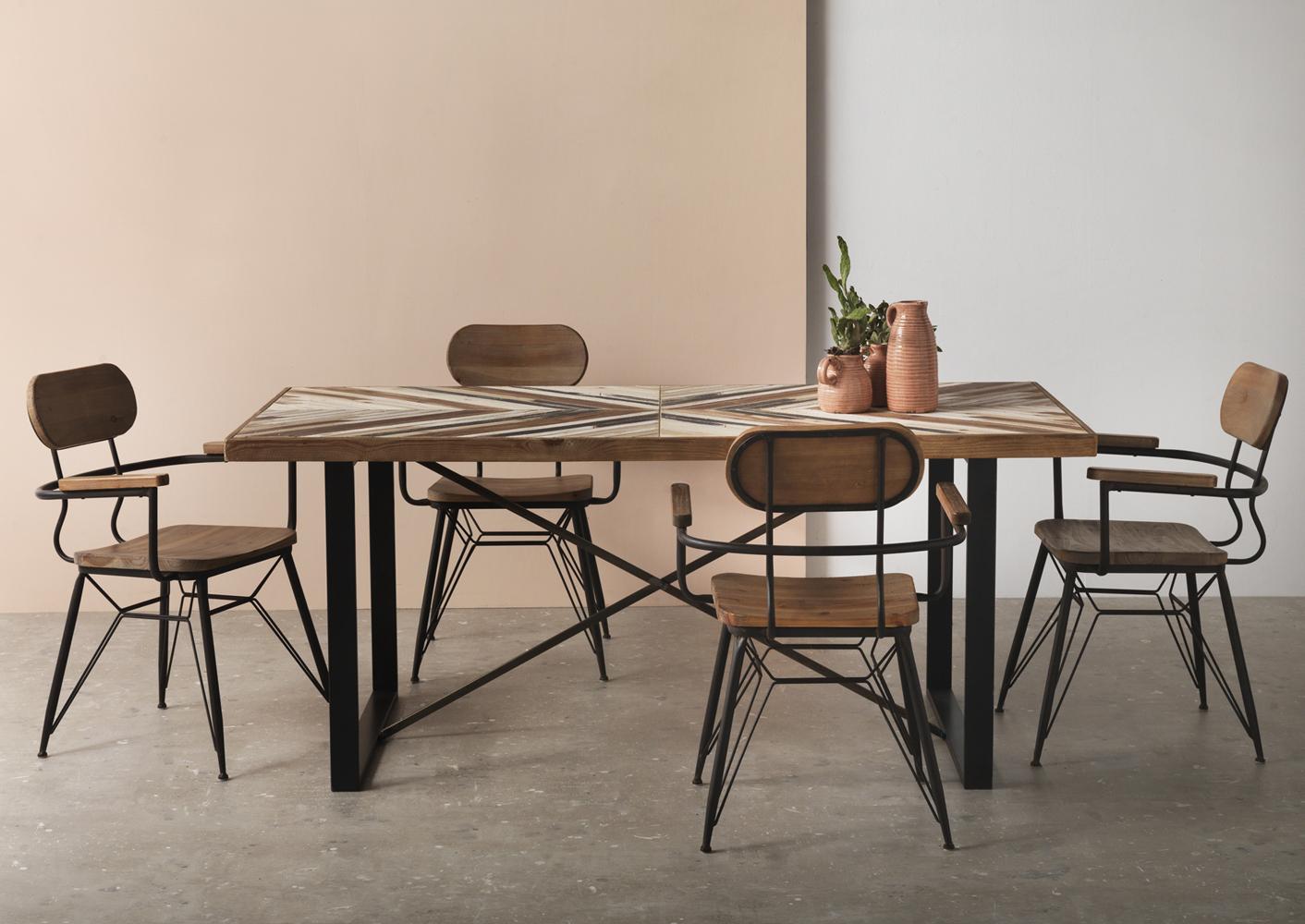 Muebles para salon y comedor de estilo vintage industrial